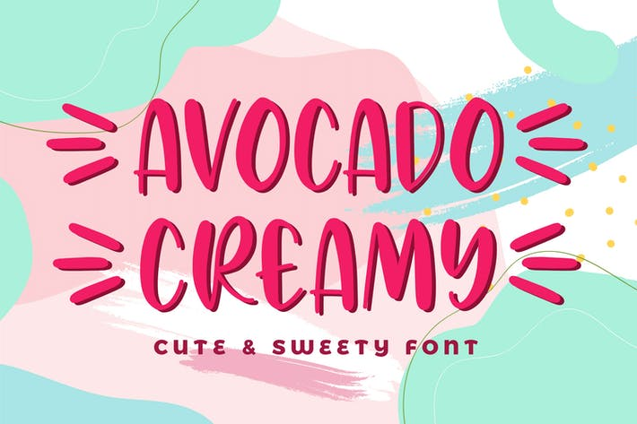 Thumbnail for Avocado Creamy - Cute & Sweety Font