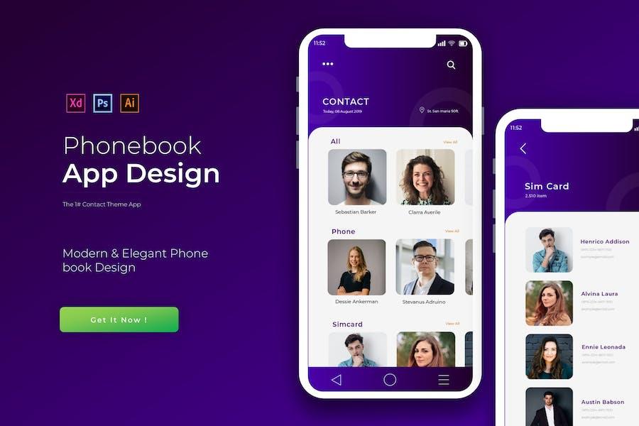 Purple Phonebook | App Template