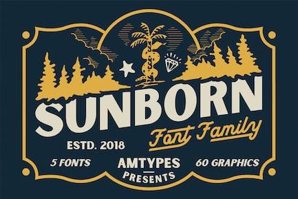 Семейство шрифтов Sunborn