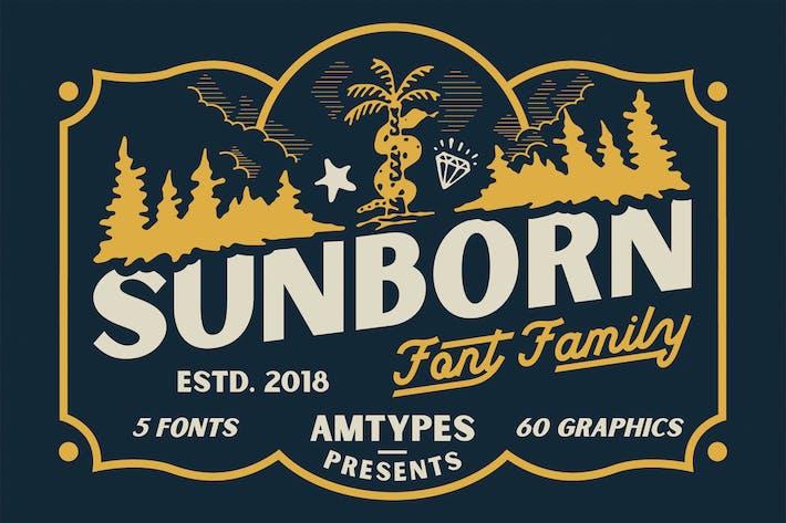 Thumbnail for Sunborn Font Family