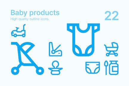 Icons für Baby-Produkte
