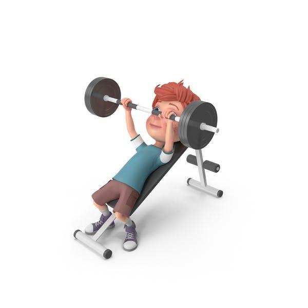 Thumbnail for Cartoon Boy Charlie Lifting Barbell