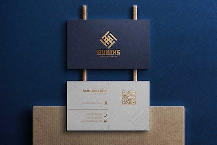 Mockup Logo - Blue Identity Card