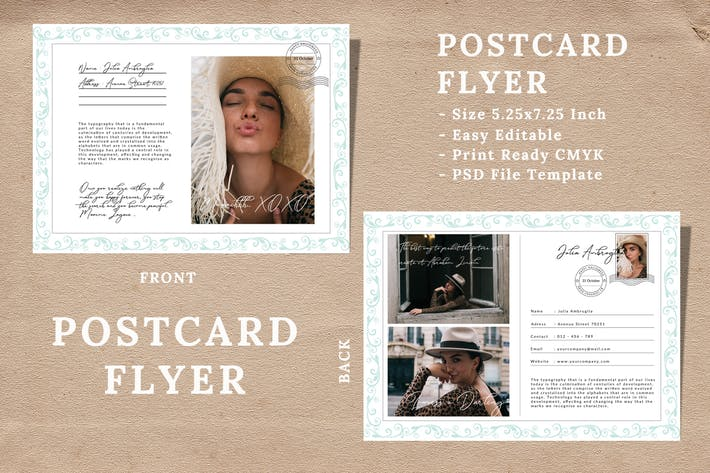 Thumbnail for Vintage Postcard Flyer Vol 04