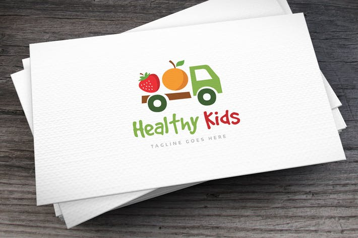 Thumbnail for Healthy Kids Logo Template