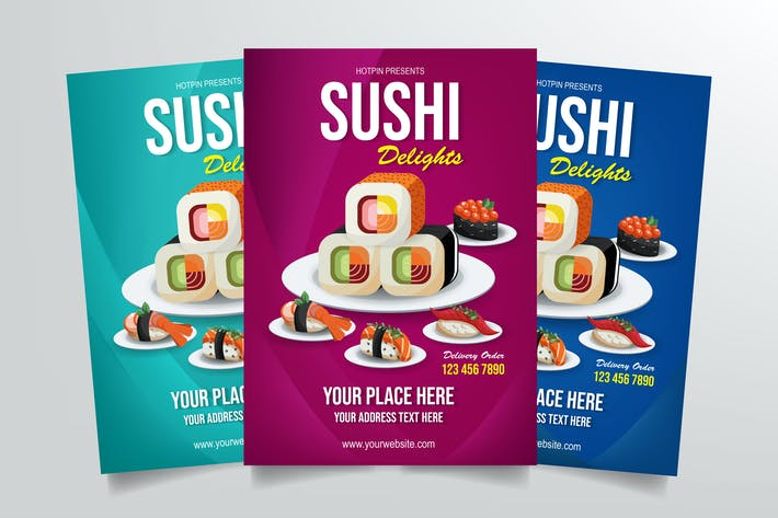 Thumbnail for Sushi Delight Flyer Template