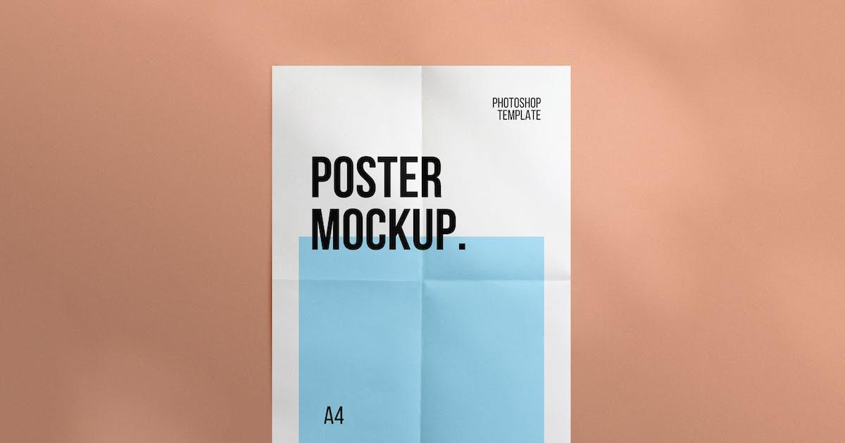Download Folded Poster Mockup by sagesmask