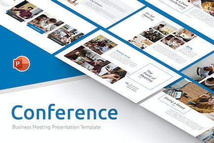 Konferenzgeschäft PowerPoint Vorlage