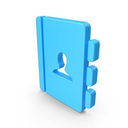 Web-Symbol für Adressbuch