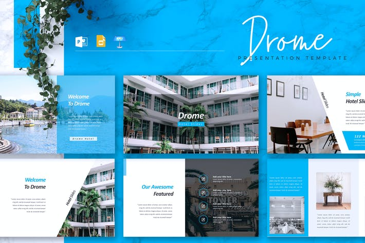 Thumbnail for DROME - Hotel Powerpoint/Google Slide/Keynote