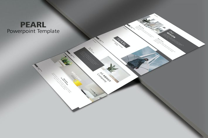 Thumbnail for PEARL - Минималы Мода Powerpoint Шаблон