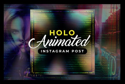 Holographic Animated Instagram Post