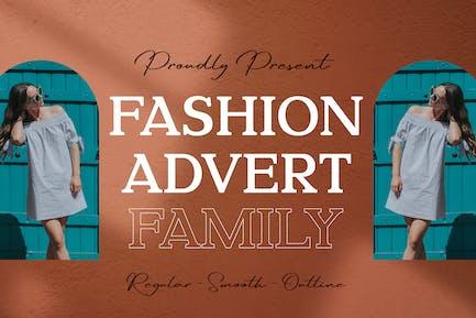 Fashion Advert Business Famille de polices