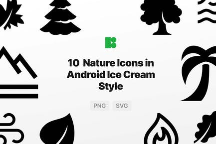 Nature Icons in Android Ice Cream Style