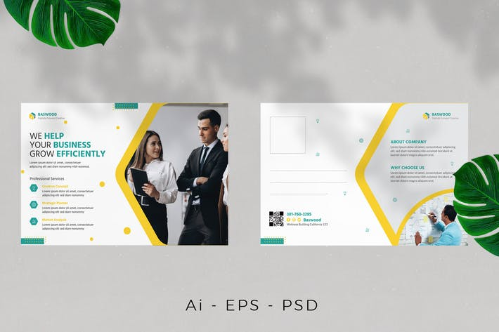 Thumbnail for Business Agency Postcard Desig