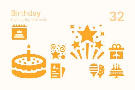 Íconos cumpleaños