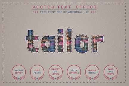 Tailor - editable text effect,  font style