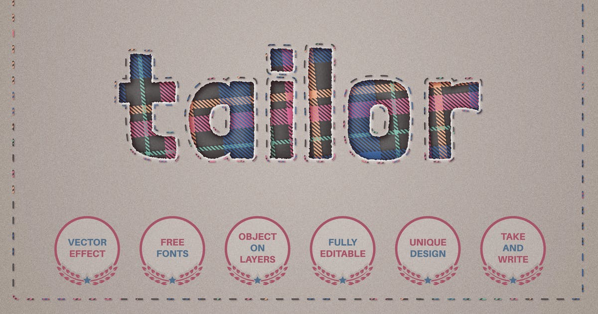 Download Tailor - editable text effect,  font style by rwgusev