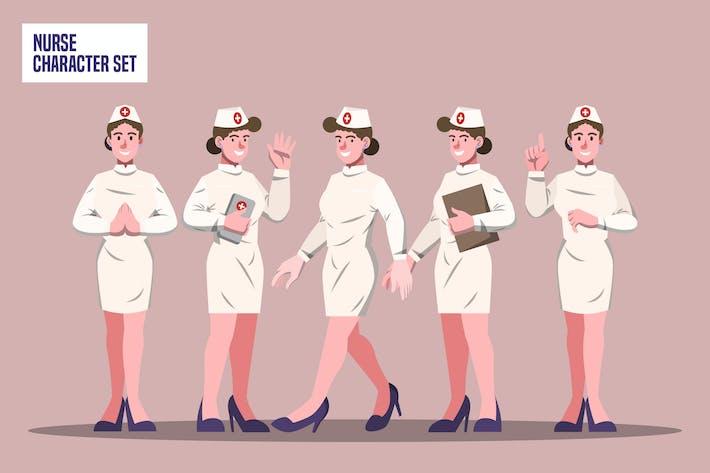 Nurse - Character Set Illustration