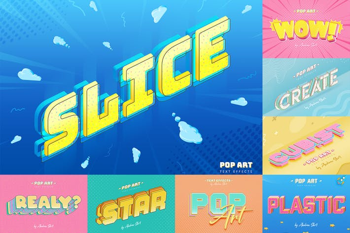 Thumbnail for Sliced Pop Art - Text Effects