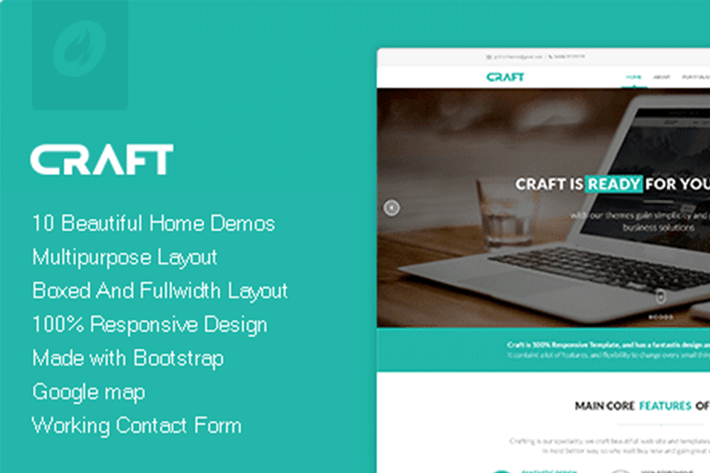 Thumbnail for Craft - Multipurpose & Responsive HTML Theme