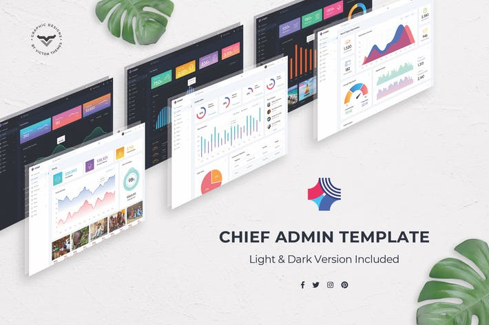 Thumbnail for Chief - Admin Dashboard PSD Template