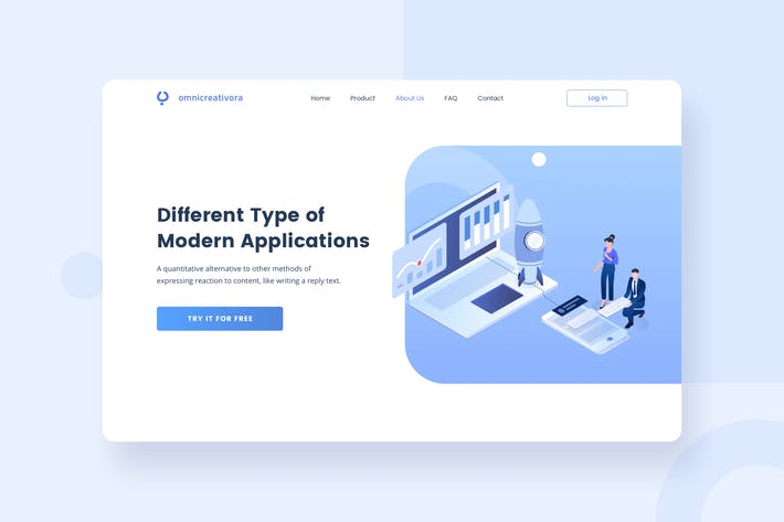 Start up launch website header Illustration