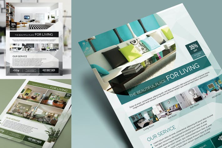 Cover Image For Interior Design Flyer