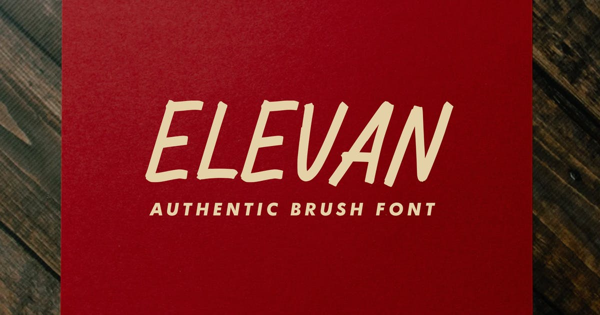 Download Elevan Brush Font by indotitas
