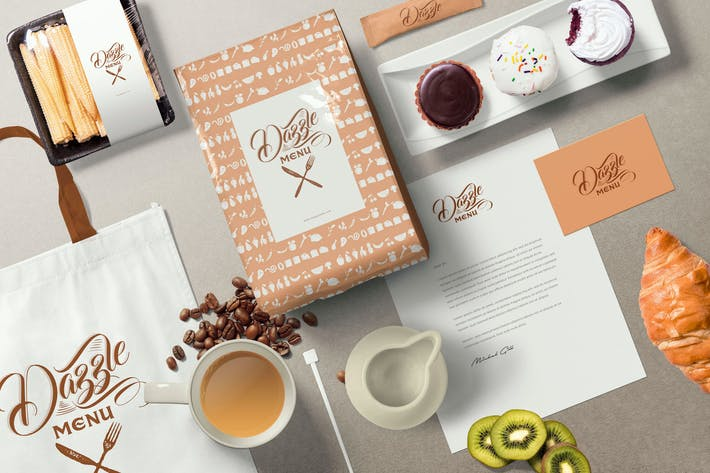 Thumbnail for Coffee Themed Brand Identity Mockup Scenes –