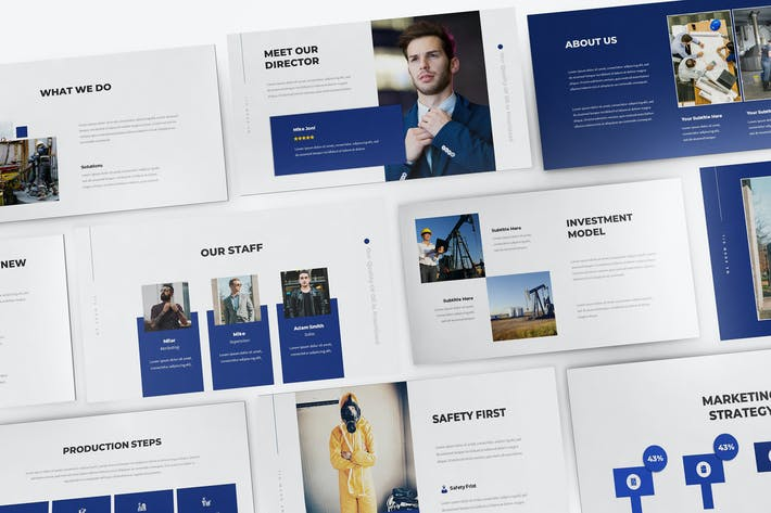 Thumbnail for Oil & Gas Keynote Presentation Template