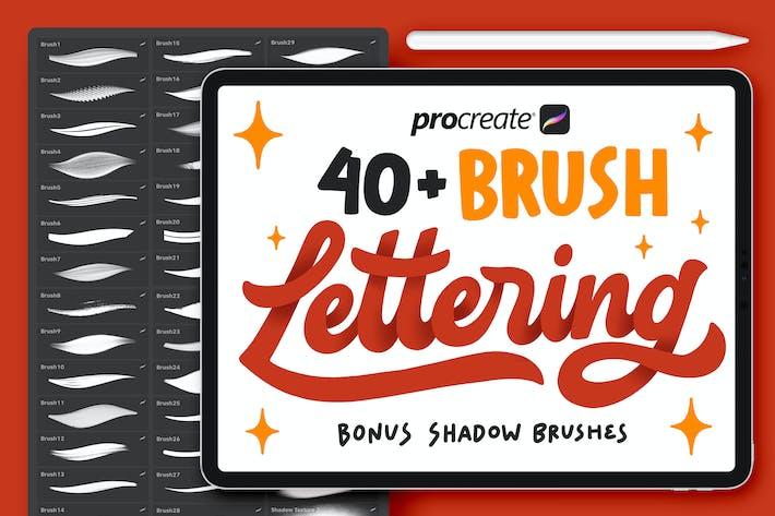 Thumbnail for 40+ Procreate Lettering Brushes