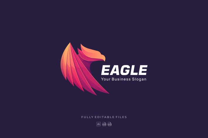 Thumbnail for Eagle Gradient Colorful Logo Template