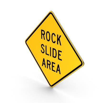 Rock Slide Area California Road Sign