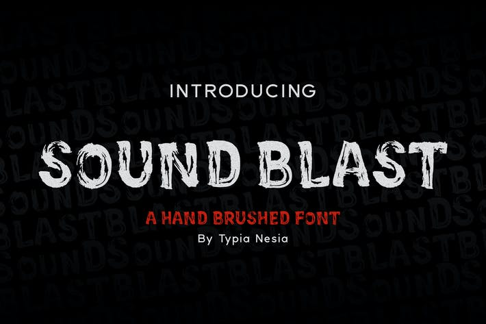 Thumbnail for SoundBlast - Brush Font