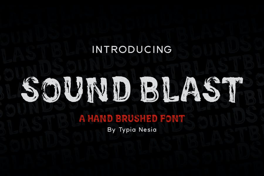SoundBlast - Шрифт кисти
