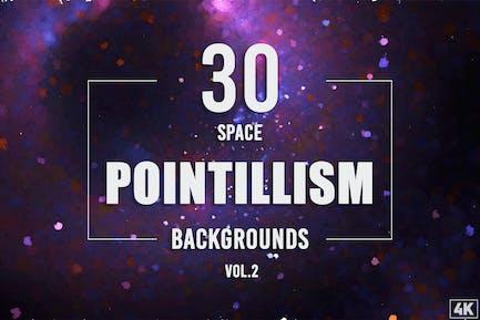 30 Pointillismus Weltraum-Hintergründe - Band 2