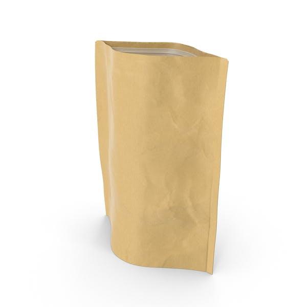 Thumbnail for Bolsa con cremallera de pie, 350 g, abierta