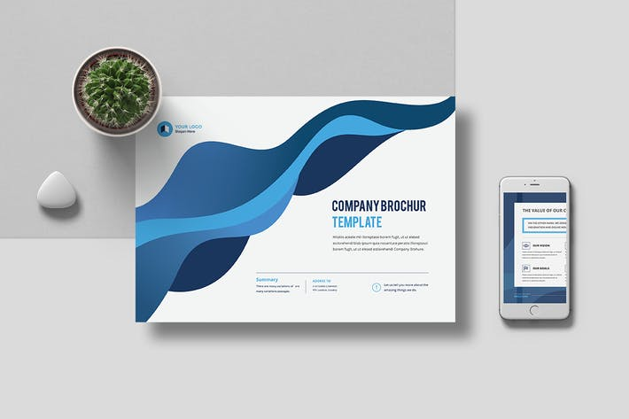 a4 landscape company profile 16 pages by pro gh on envato elements