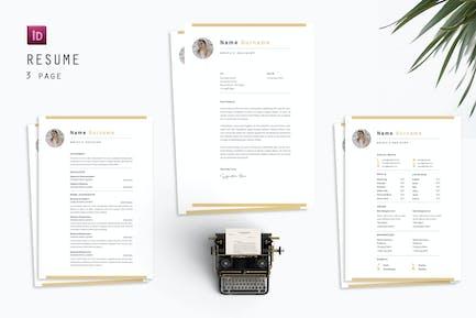 Statement Graphic Resume Designer
