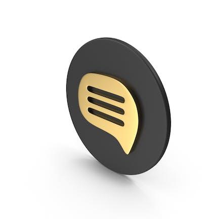 Gold Message Symbol
