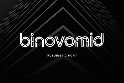 Binovomid Sans Con serifa Fuente