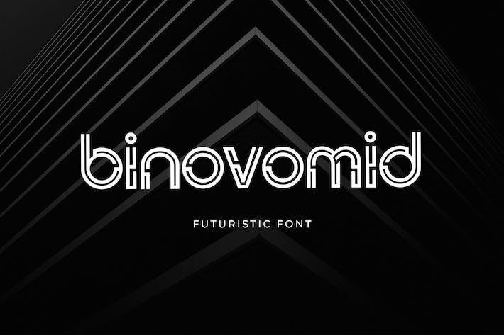 Thumbnail for Binovomid Sans Con serifa Fuente
