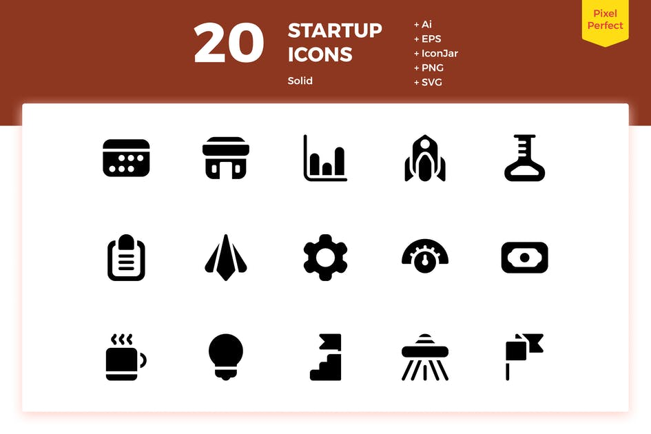 Download 20 Startup Icons (Solid) by inipagi