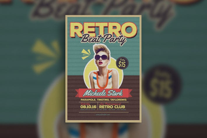 Thumbnail for Retro Beat Flyer