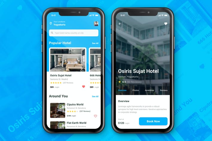 Thumbnail for Hotel Booking App Concept