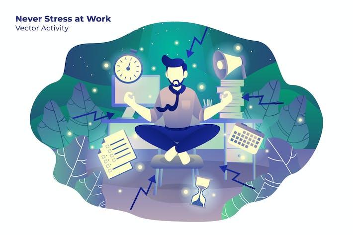 Thumbnail for Never Stress Work - Vector Illustration