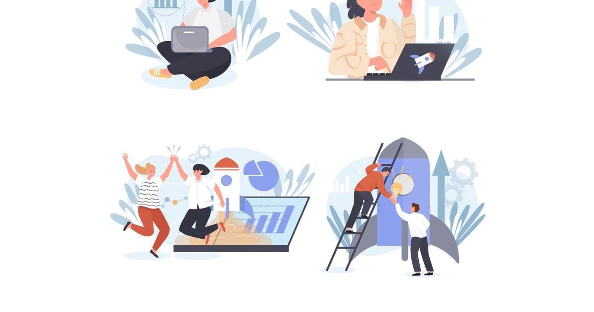 Download Startup Concept Scenes Set by DesignSells