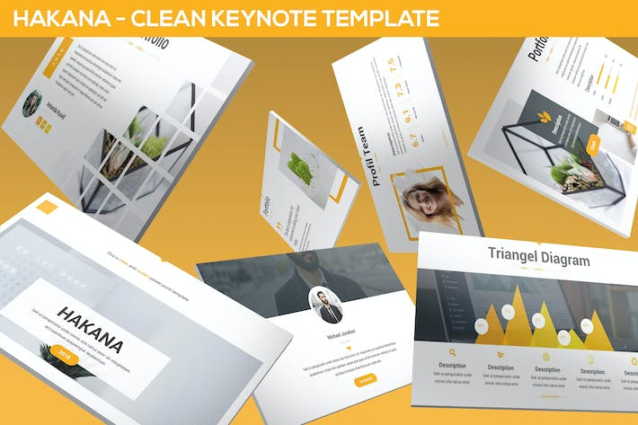 Thumbnail for Hakana - Clean Keynote Template