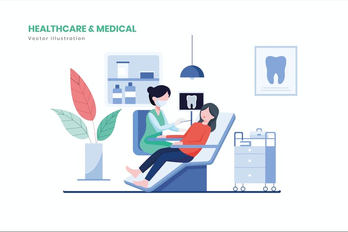 Gesundheitswesen & Medizinische Illustration